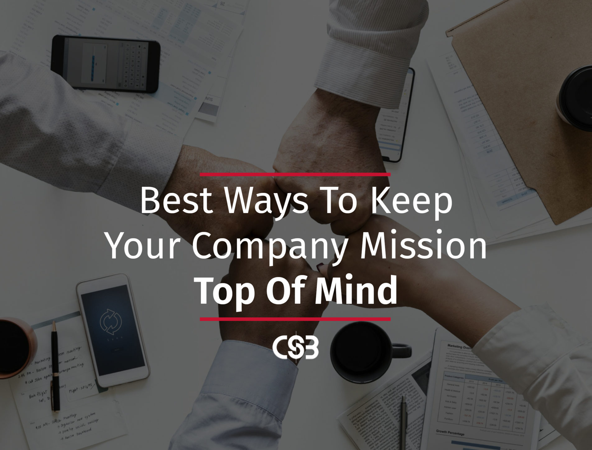 Keeping your company mission top of mind